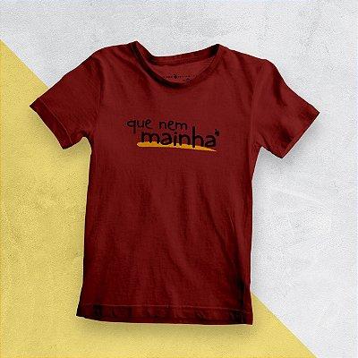 Camiseta Infantil Que Nem Mainha Vermelha