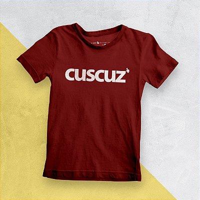 Camiseta Infantil Cuscuz Vermelha