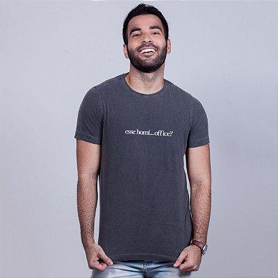 Camiseta Estonada Esse Homi Office Chumbo