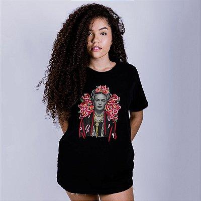 Camiseta Frida Kahlo Preta