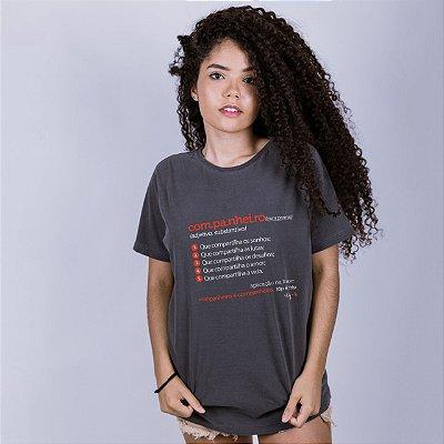 Camiseta Estonada Companheiro Dicionário Chumbo