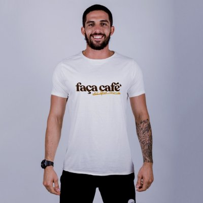 Camiseta A Fio Faça Café Off White