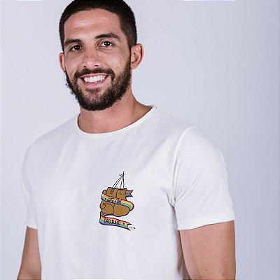 Camiseta Lute com LGBTQI+ A Fio Off White