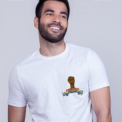 Camiseta Força LGBTQI+ Branca