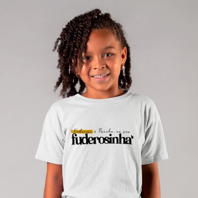 Camiseta Infantil Sou Fuderosinha 2020 Branca