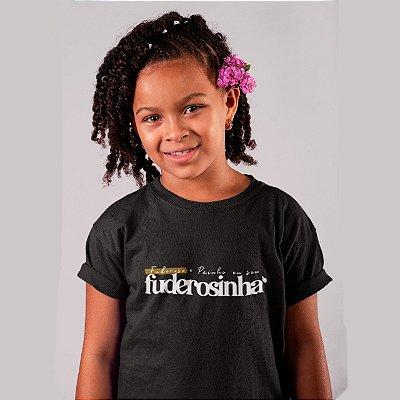 Camiseta Infantil Sou Fuderosinha 2020 Preta