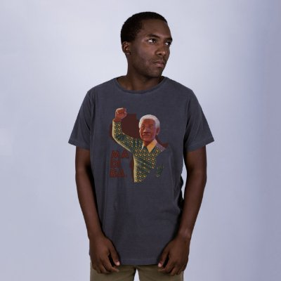 Camiseta Estonada Madiba Chumbo