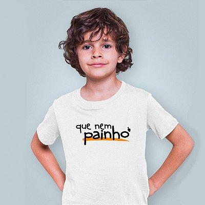 Camiseta Infantil Que Nem Painho Branca 2020