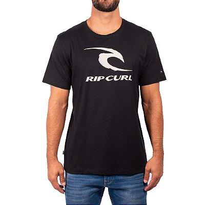 Camiseta Rip Curl Icon Tee Masculina Preto
