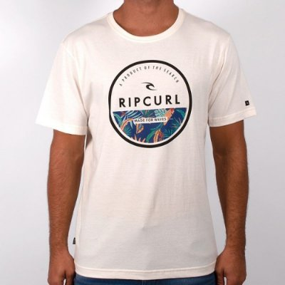 Camiseta Rip Curl Corp Yard Tee Masculina Off White
