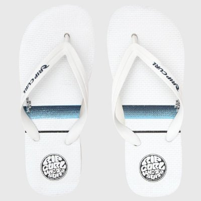 Chinelo Rip Curl Stacked Logo Branco