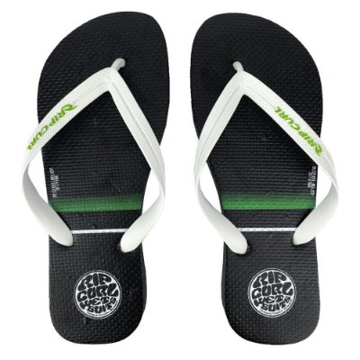 Chinelo Rip Curl Stacked Logo Preto/Verde