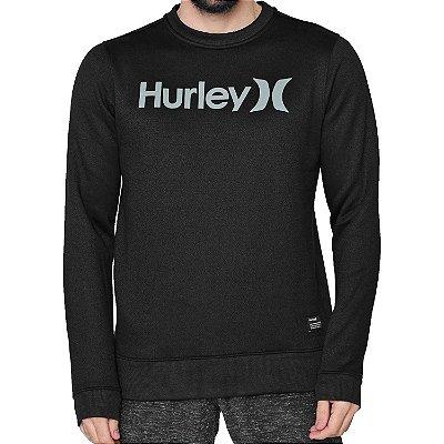 Moletom Hurley Careca O&O Solid Masculino Preto