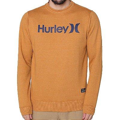 Moletom Hurley Careca O&O Solid Masculino Caqui