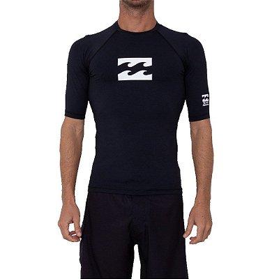 Camiseta Billabong Manga Curta Surf All Day Wave II Masculina Preto