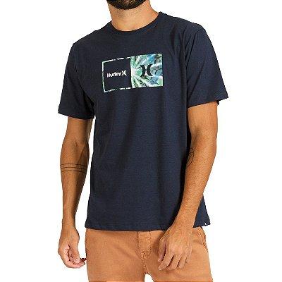 Camiseta Hurley Silk Effect Masculina Azul Marinho