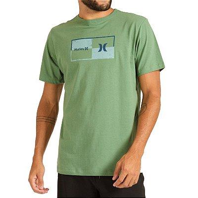 Camiseta Hurley Silk Geometric Masculina Verde