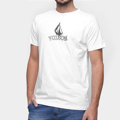 Camiseta Volcom Supple Masculina Branco
