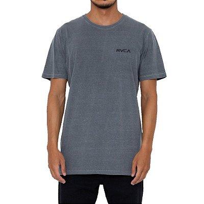 Camiseta RVCA Small Pigment Dye Masculina Cinza Escuro
