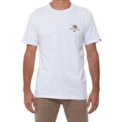 Camiseta Quiksilver CA Working Class Masculina Branco