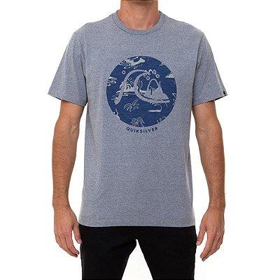 Camiseta Quiksilver Bubble Jam Masculina Cinza