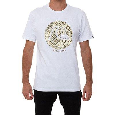 Camiseta Quiksilver Bubble Jam Masculina Branco