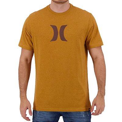 Camiseta Hurley Silk Icon Masculina Caqui