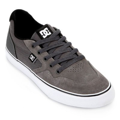 Tênis DC Shoes Rowlan SD Masculino Cinza/Branco