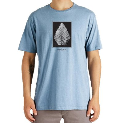 Camiseta Volcom Frond Masculina Azul Claro