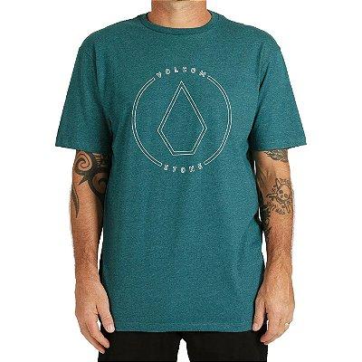 Camiseta Volcom Rimstone Masculina Verde Mescla
