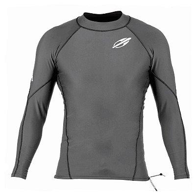 Camiseta Mormaii Manga Longa Extra Line Surfe Masculina Cinza Escuro
