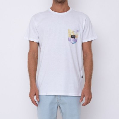 Camiseta Billabong Team Pocket Masculina Branco