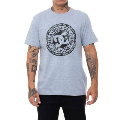 Camiseta DC Shoes Circle Star Camo Masculina Cinza Mescla