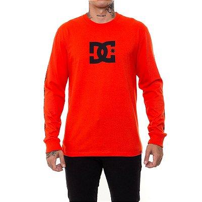 Camiseta DC Shoes Manga Longa Star Sleeve Masculina Vermelho