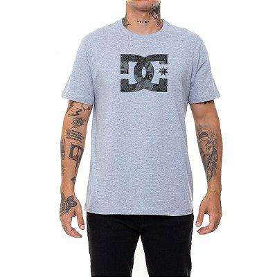 Camiseta DC Shoes Camo Fill Masculina Cinza Mescla
