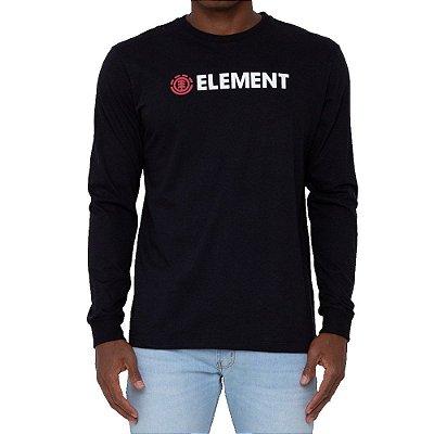 Camiseta Element Manga Longa Blazin Masculina Preto