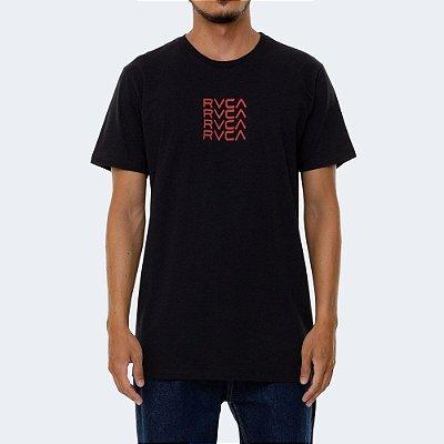 Camiseta RVCA Frame Out Masculina Preto