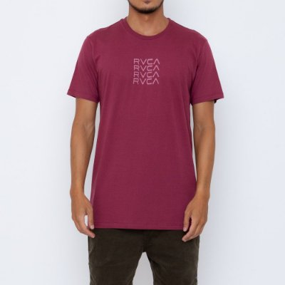 Camiseta RVCA Frame Out Masculina Vinho