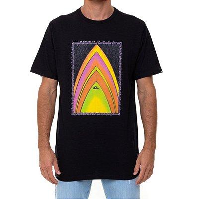 Camiseta Quiksilver Gold To Glass Masculina Preto
