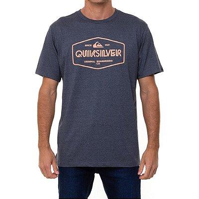 Camiseta Quiksilver Light Burn Masculina Cinza Escuro