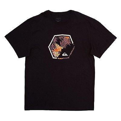 Camiseta Quiksilver Fading Out Plus Size Masculina Preto