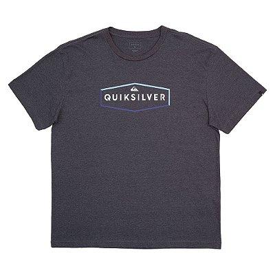Camiseta Quiksilver Clear Mind Plus Size Masculina Cinza Escuro