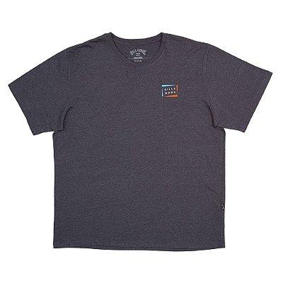 Camiseta Billabong Diecut IPlus Size Masculina Cinza Escuro