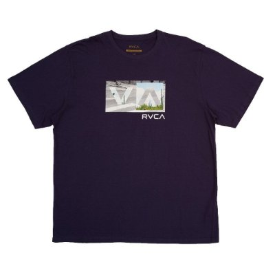 Camiseta RVCA Balance Box Plus Size Masculina Azul Marinho