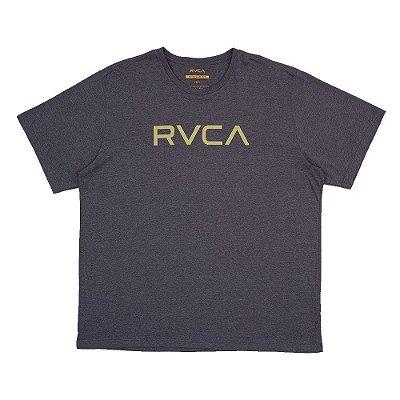 Camiseta RVCA Big RVCA Plus Size Masculina Cinza Escuro