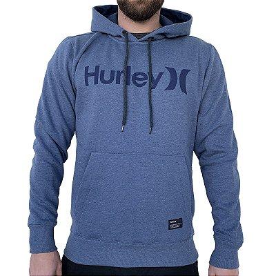 Moletom Hurley Fechado O&O Solid Masculino Azul Mescla