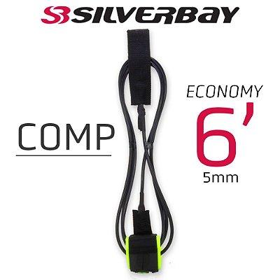 Leash Silverbay Economy Comp 6' 5mm Preto/Verde