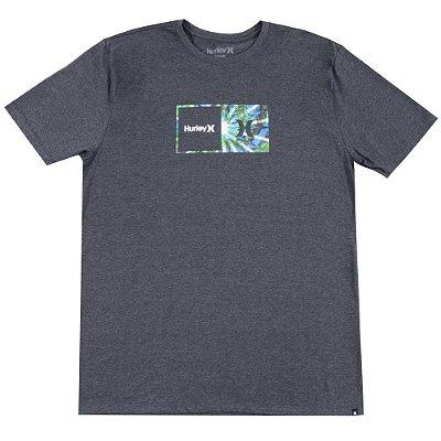 Camiseta Hurley Silk Oversize Effect Masculina Preto Mescla