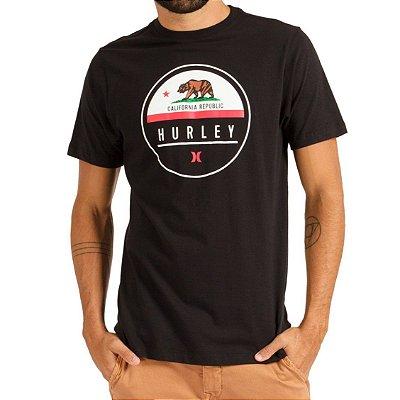 Camiseta Hurley Silk Oversize California Masculina Preto
