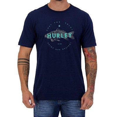 Camiseta Hurley Silk Fish Masculina Azul Marinho